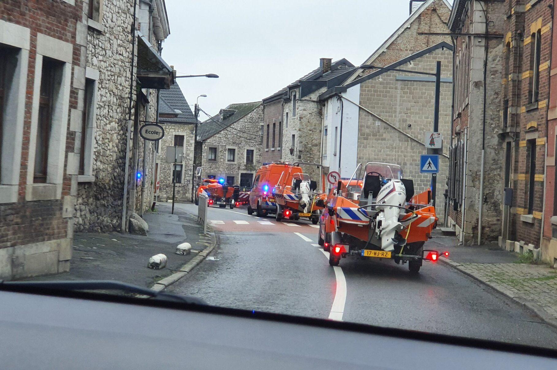 Nationale Reddingsvloot onderweg in België