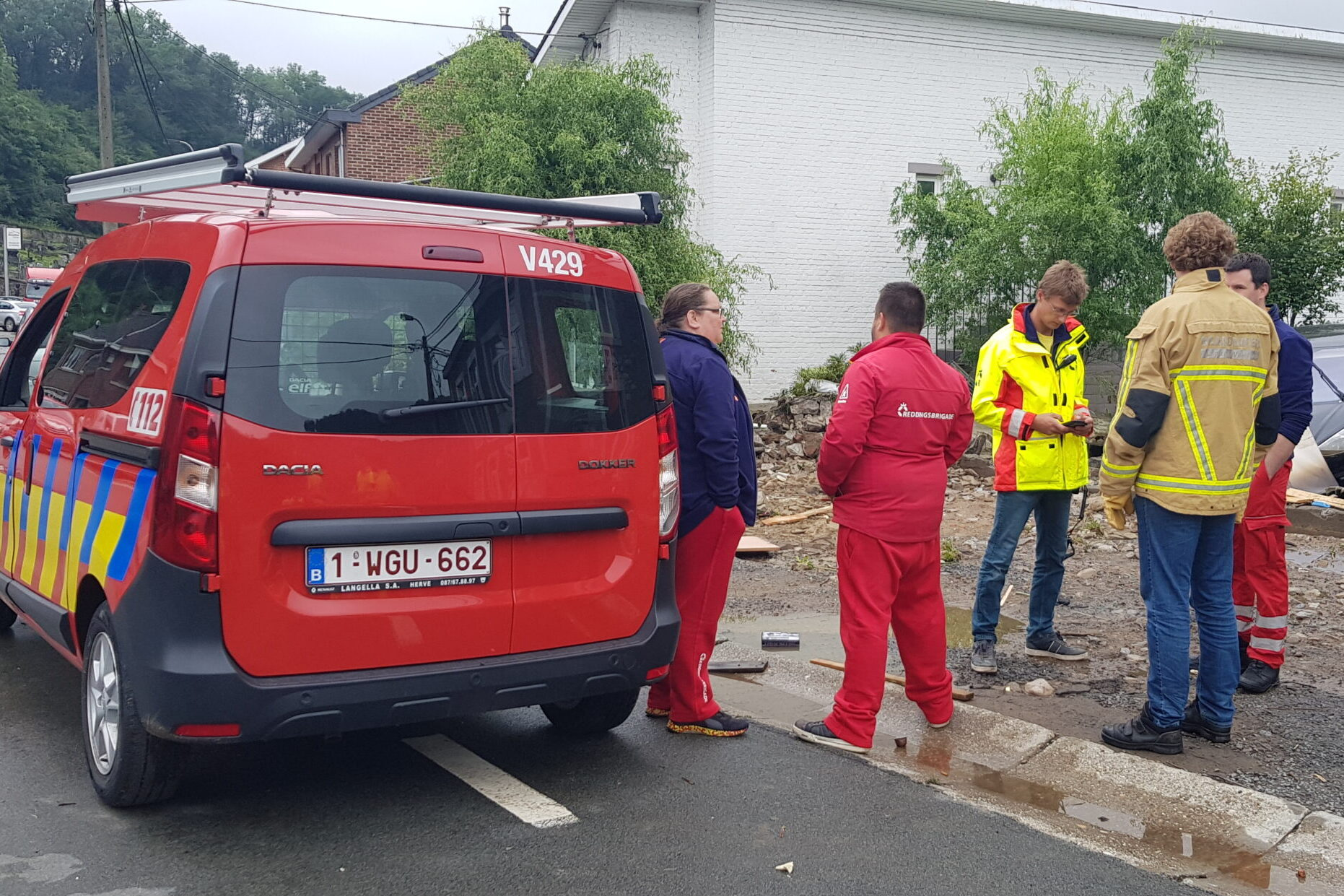NRV in actie in Luik Belgie